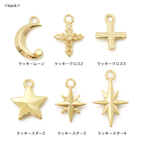 チャーム ラッキームーン2 クリスタル/G