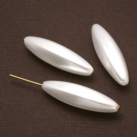 樹脂パール 六角ナツメ ホワイト