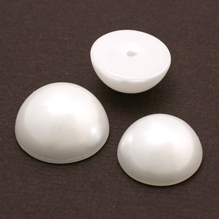 樹脂パール カボション ホワイト