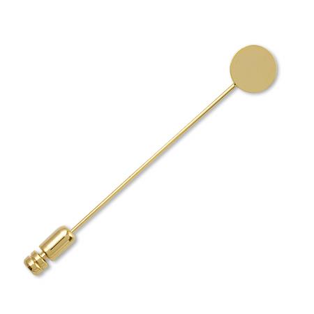 ハットピン 丸皿カンなし ゴールド