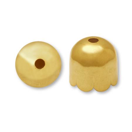 花キャップ ゴールド