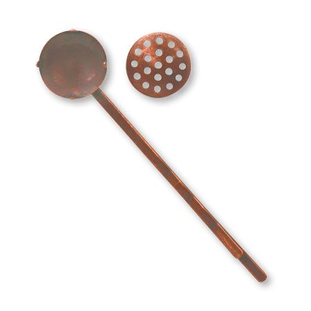 ヘア金具 シャワーヘアピン 銅古美