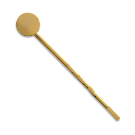 ステンレス製 丸皿ヘアピン ゴールド