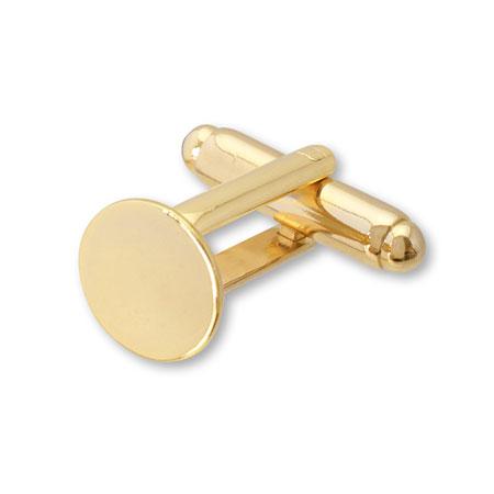 カフス 丸皿 ゴールド