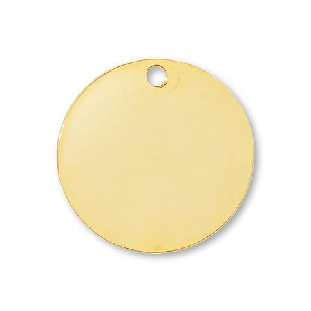 メタルパーツ ラウンドプレート1穴 ゴールド