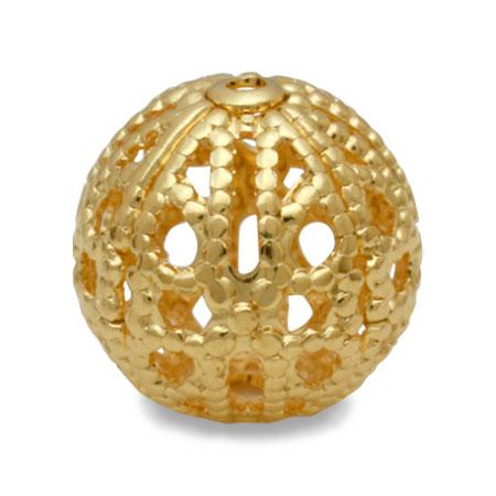 メタルパーツ 真鍮スカシ玉 ゴールド