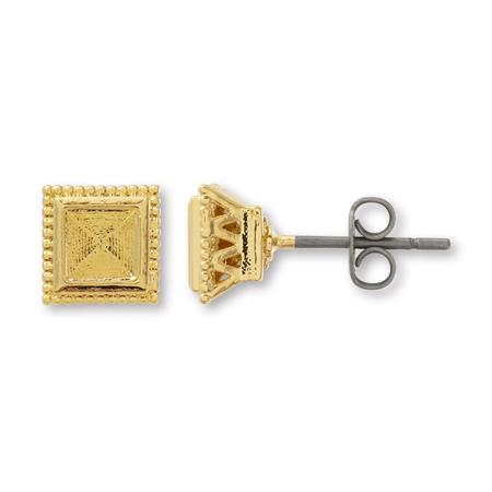 ポストピアス デザイン石座付2 #4428用 ゴールド