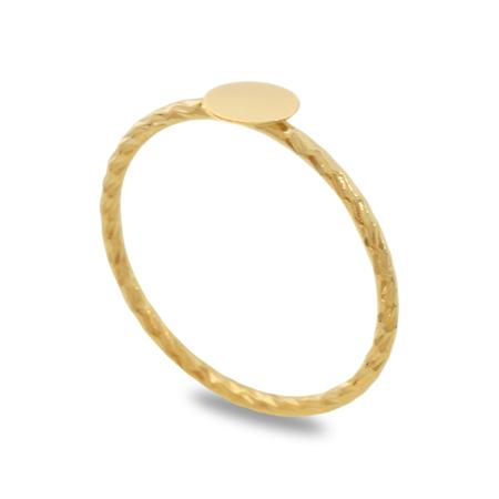 リング台 模様線 丸皿付5mm ゴールド
