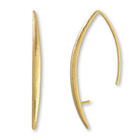 デザインピアス フック裏芯立 ヘアライン 丸玉4-8mm用 ゴールド