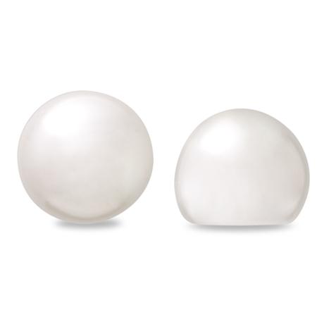 樹脂パール スリークオーター 片穴 ホワイト