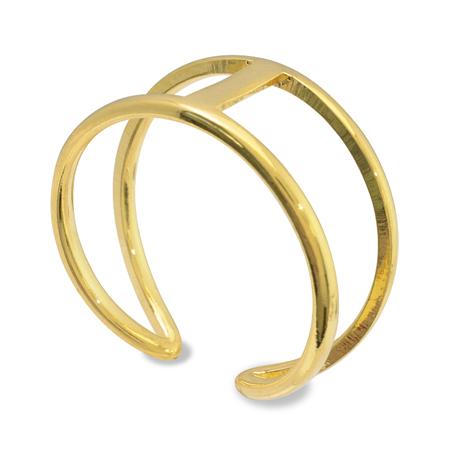 リング台 ダブル 角皿付2×7mm ゴールド