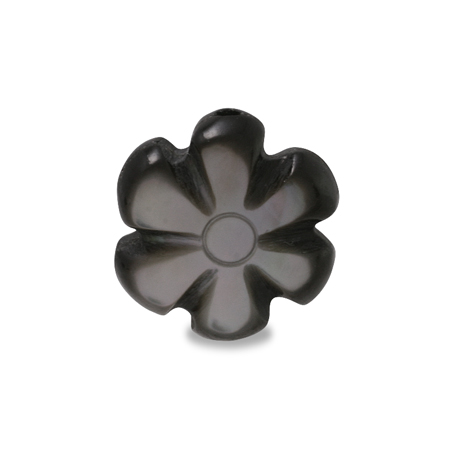 シェルパーツ 花 黒蝶貝