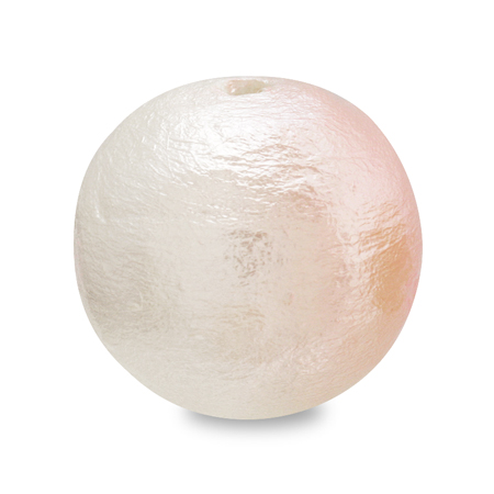 コットンパール スイートカラー 丸玉 ホワイト/ベビーローズ