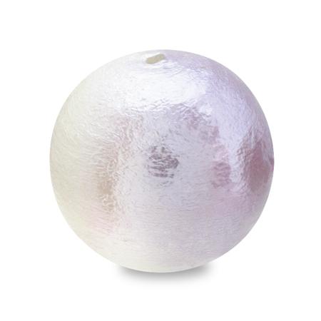 コットンパール スイートカラー 丸玉 ホワイト/スミレ