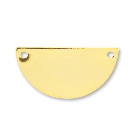 メタルプレート 半円 2穴 ゴールド