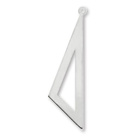 メタルパーツ 三角中抜 ロジウムカラー