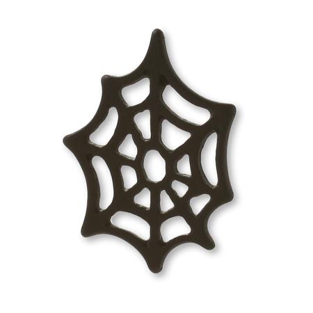 チャーム クモの巣 マットブラック