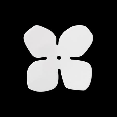 アクリルパーツ 4弁花 ホワイト