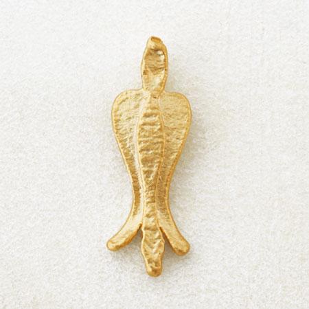 トルコ製チャーム ロングチューリップ マットゴールド