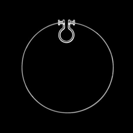 ノンホールピアス 樹脂 フープ クリア/RC