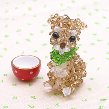レシピNo.1578 スワロフスキー・クリスタルの柴犬