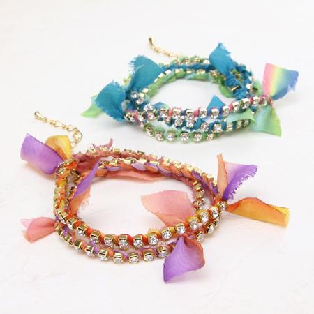 夏もキラキラ☆連爪で作るブレスレットが簡単可愛い♡