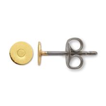 ピアス チタン丸皿 4mm ゴールド
