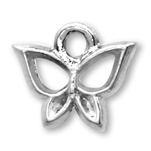 国産キャストチャーム 蝶1 ロジウムカラー