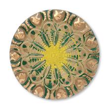 ヨーロピアンカボションボタン No.8 グリーン