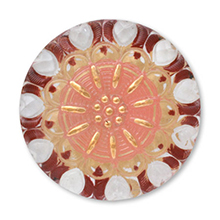 ヨーロピアンカボションボタン No.8 ピンク