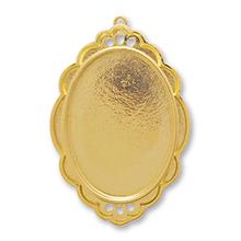 デザインミール皿 唐草枠 ゴールド