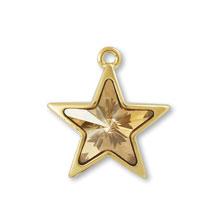 チャーム #4745 スター クリスタルゴールデンシャドウ/G
