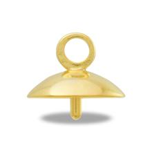 ヒートンキャップ No.6 丸玉12-16mm用 ゴールド