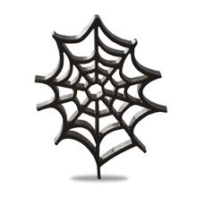 アクリルチャーム ハロウィン クモの巣 ブラック