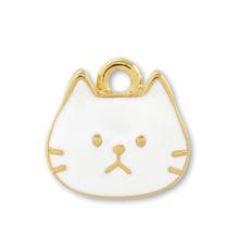 チャーム おとぼけネコ ホワイト/G