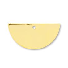 メタルプレート 半円 1穴 ゴールド