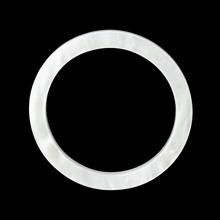アクリルパーツ シルキーラウンド 約36mm ホワイトマーブル