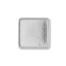デザインミール皿 スクエア ロジウムカラー