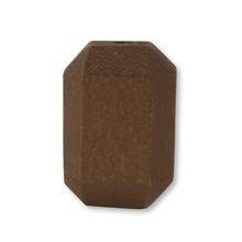 ウッドビーズ 長方形  ブラウン