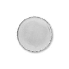 ミール皿 カン無(丸) ロジウムカラー