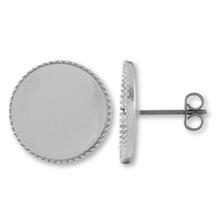 ピアス チタン ミール皿 ロジウムカラー