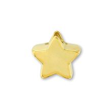 樹脂パーツ 星 縦穴 ゴールド