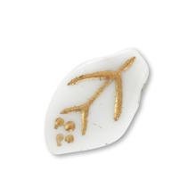 チェコ 葉1 ホワイト/ゴールド