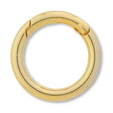 キーホルダー カラビナ 丸線 ゴールド