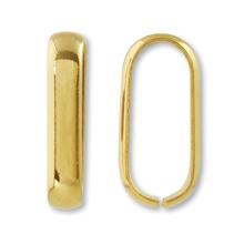 つなぎカン 甲丸 約3×7×15mm  ゴールド