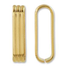 つなぎカン スジ入 約5×8×23.5mm ゴールド
