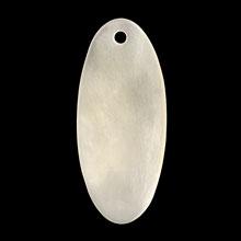 シェルパーツ 楕円 1穴 ホワイト
