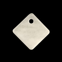 シェルパーツ 菱形 1穴 ホワイト