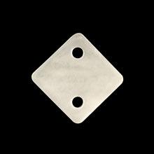 シェルパーツ 菱形 2穴 ホワイト