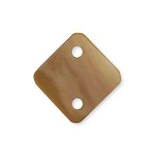 シェルパーツ 菱形 2穴 茶蝶貝